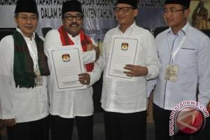 Penetapan Pasangan Calon Pilkada Banten