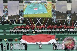 PEPARNAS - Kontingen berbagai daerah mulai tinggalkan Bandung
