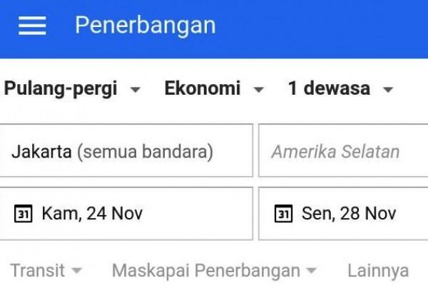 Google Penerbangan Hadir Di Indonesia