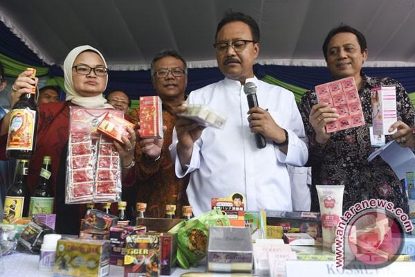 pemusnahan obat dan makanan ilegal bpom foto antara news
