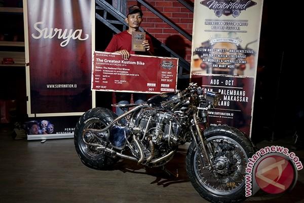 "Motor ""oprekan"" builder Purwokerto ini juarai Suryanation Motorland"