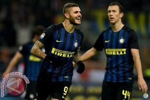 Inter Milan hajar Lazio 3-0, Icardi cetak dua gol