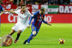 Sempat tertinggal, Barcelona tundukkan Sevilla 2-1