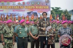 Presiden Beri Arahan Ke Korps Marinir