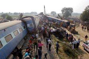 Kecelakaan kereta di India tewaskan 100 orang lebih