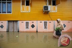 Sungai Batanghari meluap, ribuan rumah di tujuh desa terendam