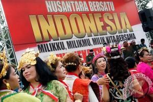 Kesenian tradisional ramaikan Apel Nusantara Bersatu di Magelang