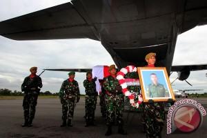 Jenazah Korban Kecelakaan Heli TNI AD Tiba