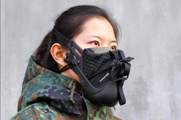Perancang China Buat Masker Dari Sepatu Rp134 Juta