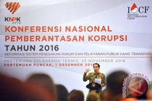 Presiden buka Konferensi Nasional Pemberantasan Korupsi 2016