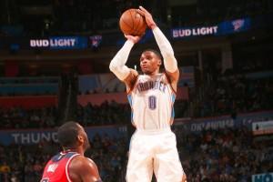 "Westbrook ""triple-double"" lagi, Thunder tundukkan Wizards 126-115 lewat ""overtime"""