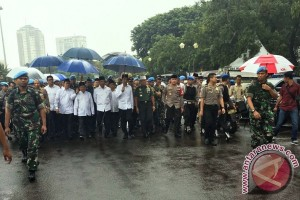 """Tenda Presiden di Monas dijaga """"super ketat"""""""
