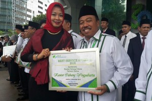 BPJS Ketenagakerjaan Yogyakarta raih Best Service Award 2016