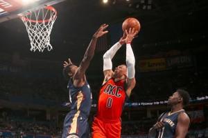 """""""Triple-double"""" beruntun Westbrook antar Thunder kalahkan Pelicans 101-92"""
