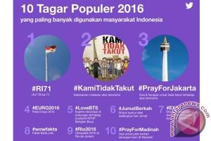 10 tagar terpopuler Twitter Indonesia 2016