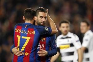 Liga Champions - Arda Turan hattrick, Barcelona bungkam Gladbach 4-0
