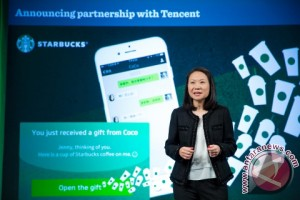 Starbucks gandeng Tencent untuk meluncurkan fitur social gifting di WeChat