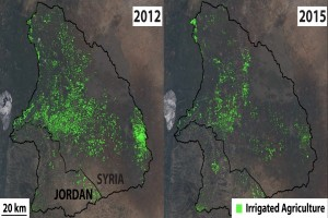 EARTH WIRE -- Land and water resources altered by Syria war