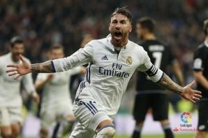 Madrid menang dramatis 3-2 atas Deportivo lewat gol Ramos