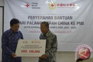 Palang Merah China bantu korban gempa Aceh