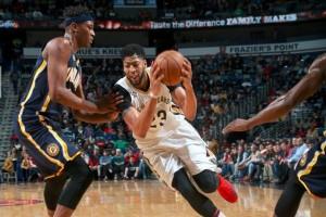 Anthony Davis antar Pelicans taklukkan Pacers 102-95