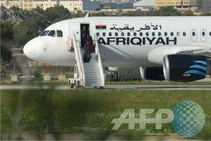 Hijacked Libyan plane lands in Malta with 118 on board
