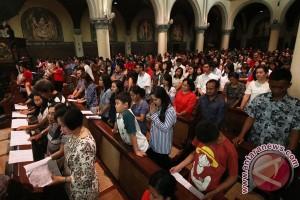 Jemaat Gereja Paulus Jakarta serukan pesan perdamaian