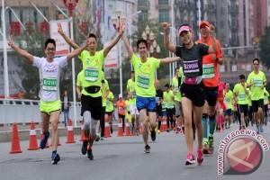 Kota hijau Heyuan di Tiongkok gelar event marathon yang diikuti 15.000 peserta