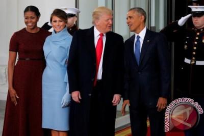 Presiden Obama sambut Trump di Gedung Putih