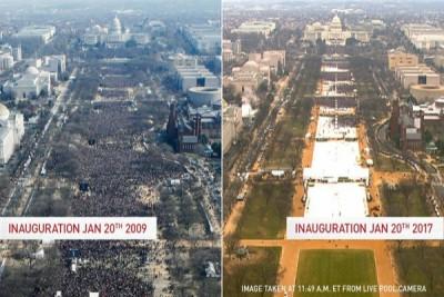 Banyak mana antusiasme rakyat AS sambut Obama atau Trump?