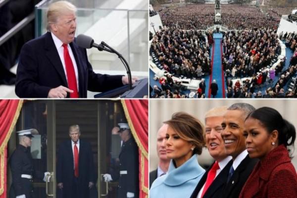 Pelantikan Donald Trump Di Warnai Sorakan dan Olokan