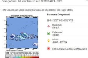 Gempa 5 Skala Richter guncang Sumbawa