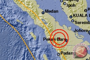 Gempa di daratan Rokan Hulu 5,3 skala Richter