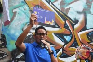 Sandiaga Uno dapat rekor titik kampanye terbanyak versi MURI