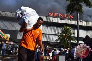 Api kebakaran Pasar Senen padam Jumat dinihari