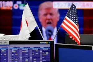 Harga saham Asia rontok disergap sentimen Trump dan Pemilu Prancis