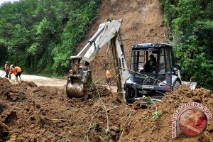Tanah longsor rusak rumah warga Ngawi