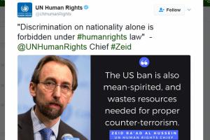 """Kepala HAM PBB: larangan Trump """"ilegal dan keji"""""""