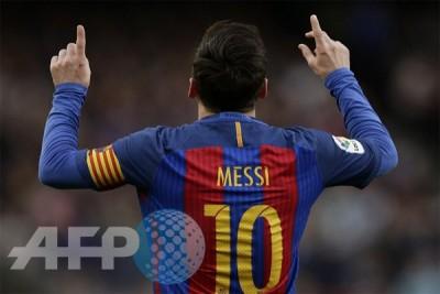 Messi pencetak gol terbanyak Liga Spanyol
