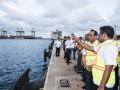 Menteri Perhubungan Periksa Kapal Roro
