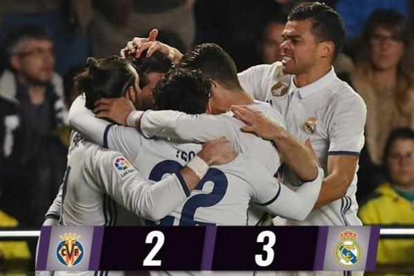 Balikkan Kedudukan, Real Madrid Hempaskan Villarreal 3 2