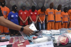Dalam 18 hari Polresta Bandarlampung tangkap 32 tersangka narkoba