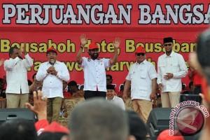 Prabowo Hadiri Kampanya Akbar Cagub PA Di Aceh