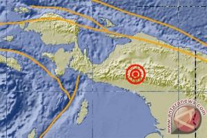 Gempa 5,2 skala Richter di Puncak, Papua, lagi-lagi di darat