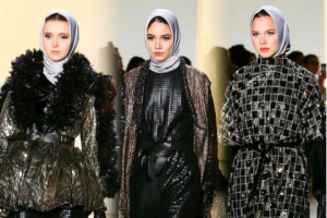 Busana Muslim Anniesa Hasibuan di New York Fashion Week