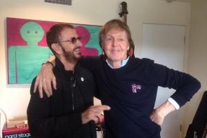Paul McCartney dan Ringo Starr Beatles reuni di studio musik