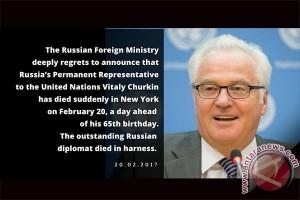 Dubes Rusia untuk PBB Churkin meninggal dunia mendadak