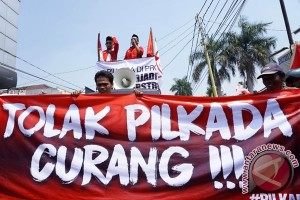 Unjuk Rasa Pilkada Banten