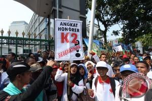 Aksi Tenaga Honorer Jakarta