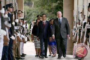 Presiden disambut upacara kenegaraan di Admiralty House